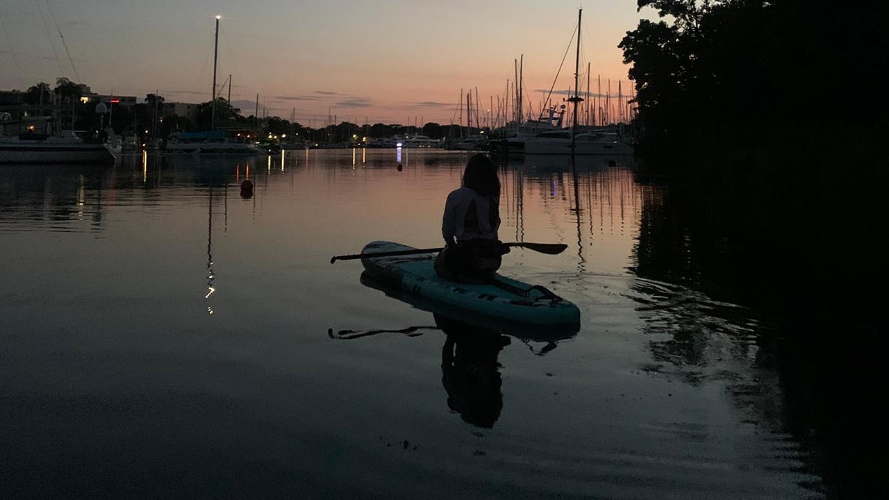 Jessica Diehl kayaking