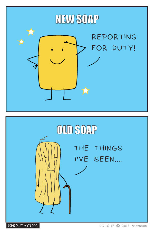New versus old soap