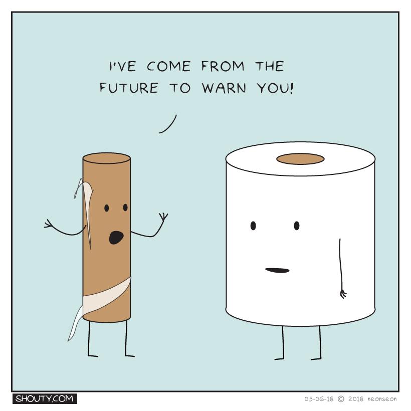The sad life of toilet paper