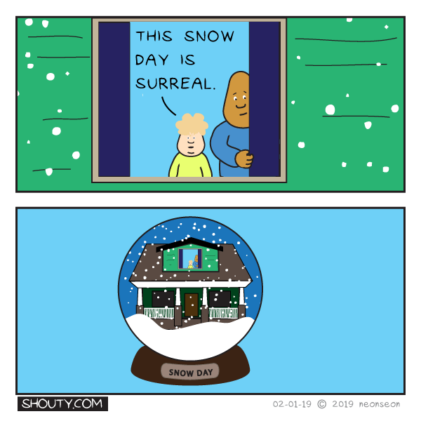 Snow Day Comic by Shouty
