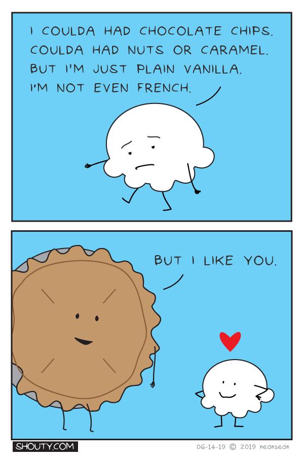 Vanilla Ice Cream Comic by Shouty