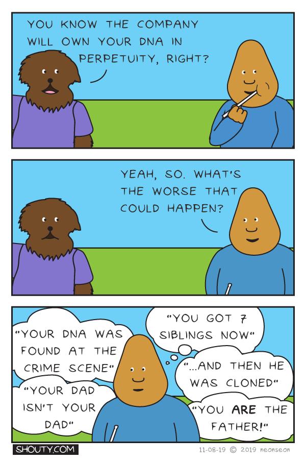 Genetic Test Comic By Shouty