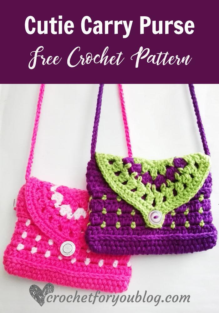 Cutie Carry Purse - free crochet pattern