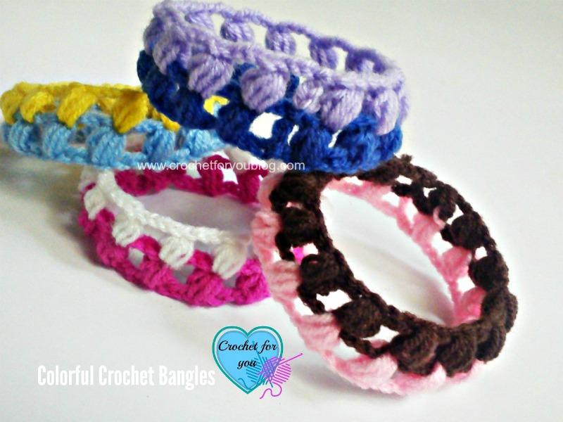 Colorful Crochet bangles