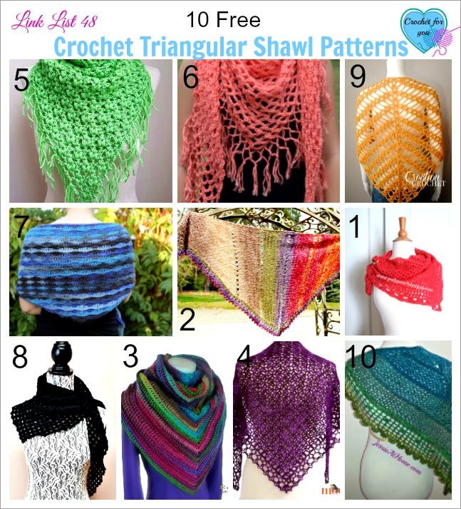 10 Free Crochet Triangular Shawl Patterns