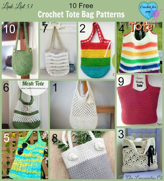 10 Free Crochet Tote Bag Patterns