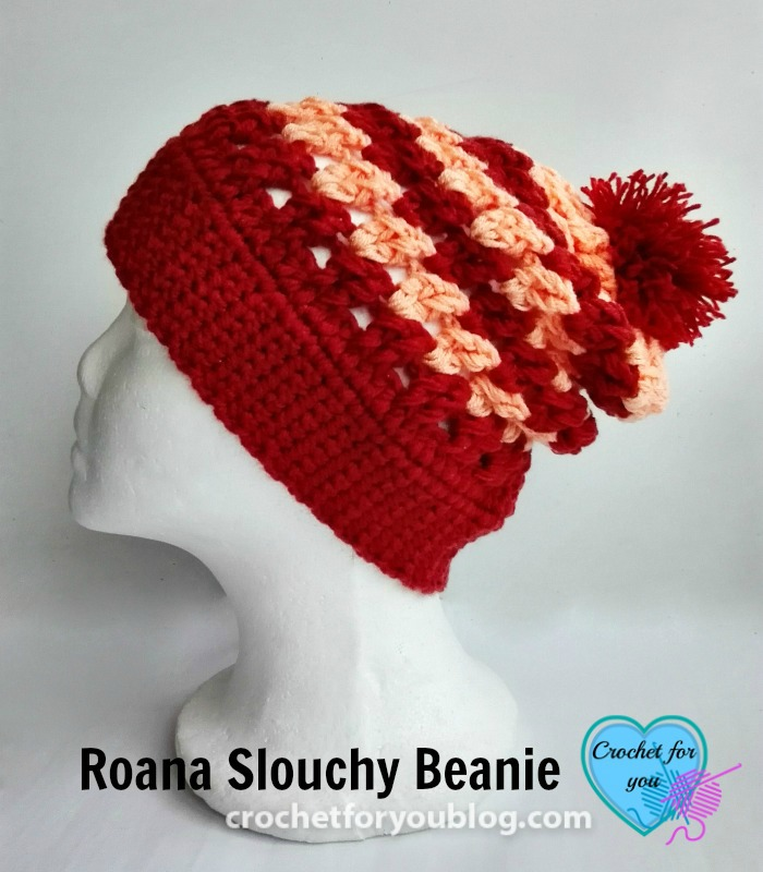 Roana Slouchy Beanie Free Crochet Pattern