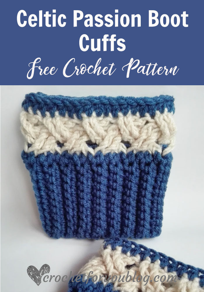 Celtic Passion Boot Cuffs - free crochet pattern