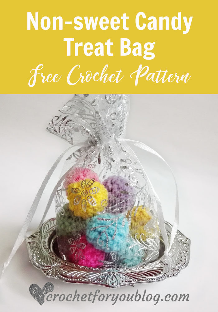 non-sweet Candy Treat Bag - free crochet pattern