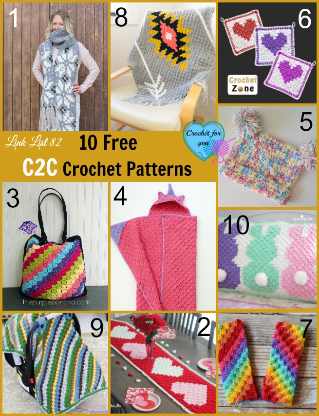 10 Free C2C Crochet Patterns