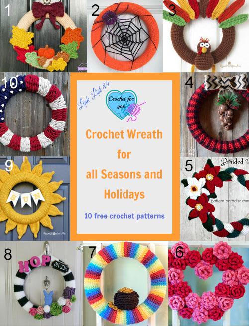 10 Free Crochet Wreath Patterns.