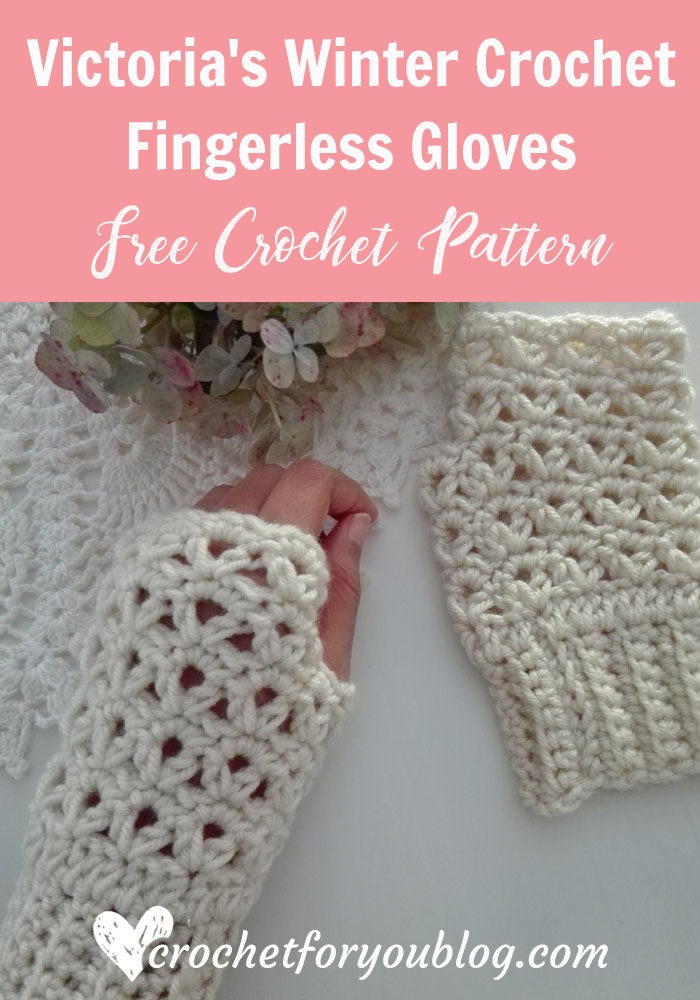 Victoria's Winter Crochet Fingerless Gloves - free crochet pattern