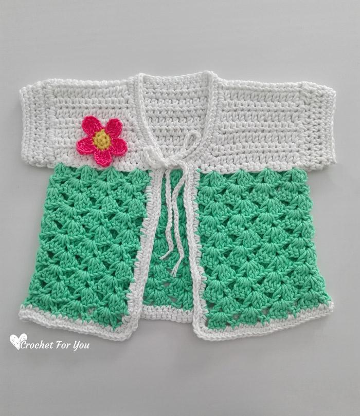 Cactus Baby Cardigan Free Pattern