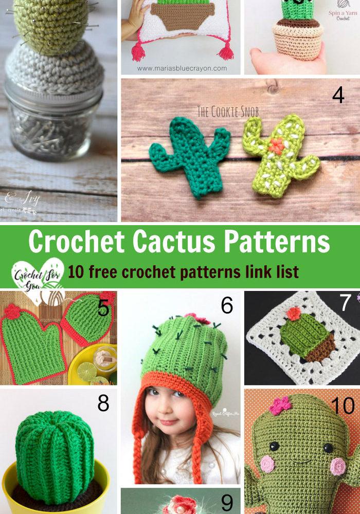 Crochet Cactus Patterns - 10 free crochet pattern link list