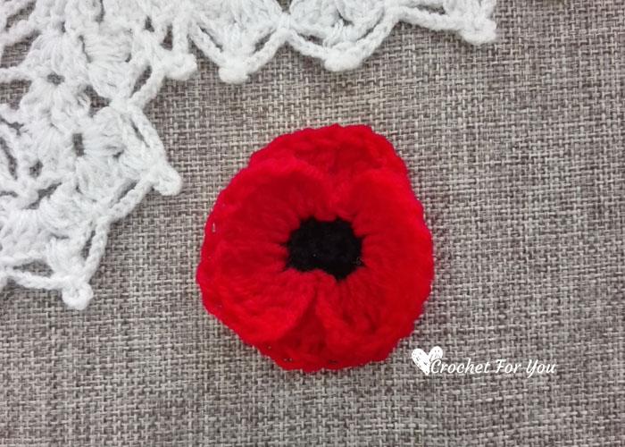 Crochet Poppy Flower Free Pattern