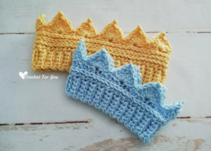 Crochet Crown Ear Warmer Newborn to Toddler Sizes - Free Pattern