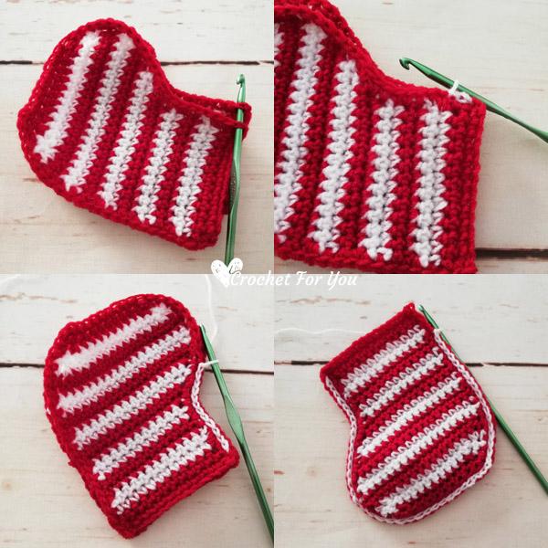 Crochet Stocking Christmas Ornament Free Pattern