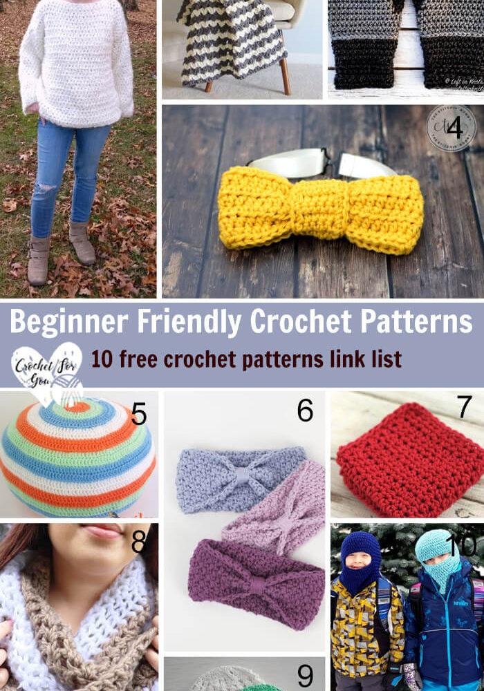 Beginner Friendly Crochet Patterns – 10 free crochet pattern link list