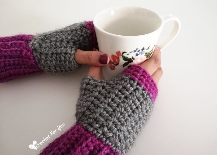 Crochet Spider Stitch Fingerless Gloves