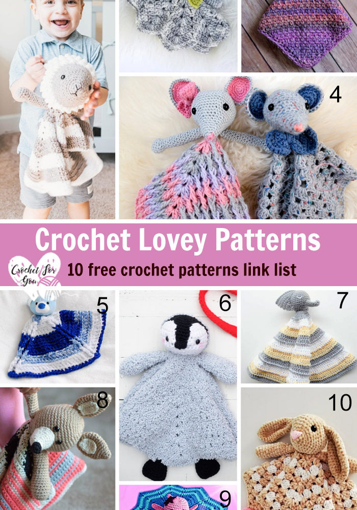 Crochet Lovey Patterns - 10 free crochet pattern link list