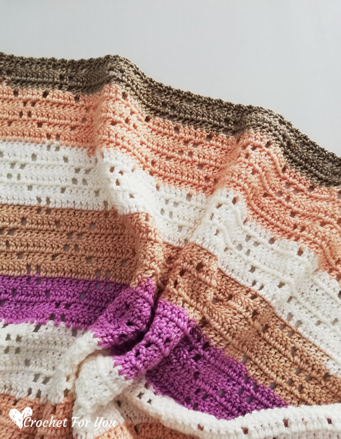 Ribbon Cake Crochet Blanket Free Pattern