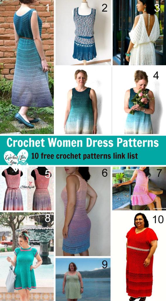 Crochet Women Dress Patterns 10 Free Crochet Patterns Link List