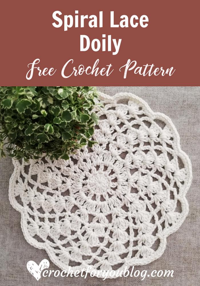 Crochet Spiral Lace Doily Free Pattern