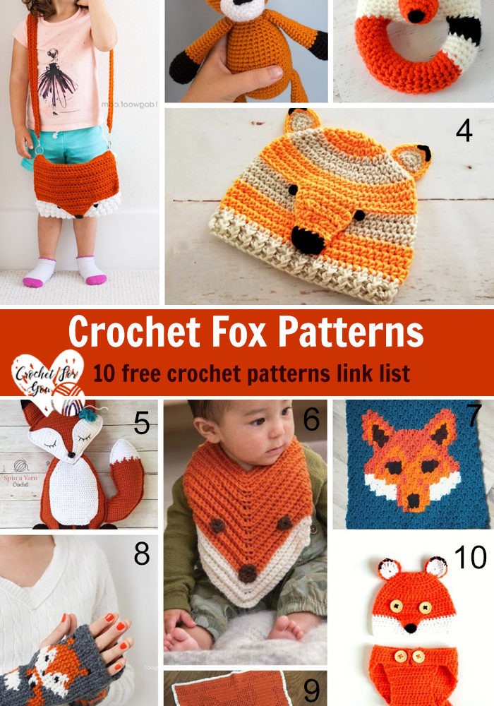 Crochet Fox Patterns - 10 free crochet patterns link list
