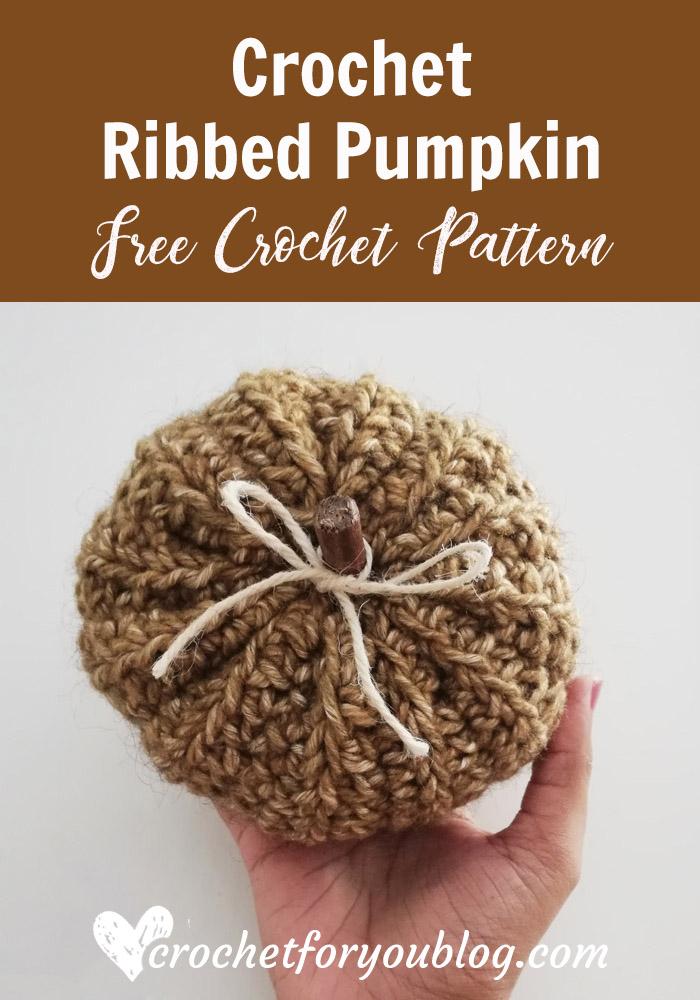 Crochet Ribbed Pumpkin Free Pattern