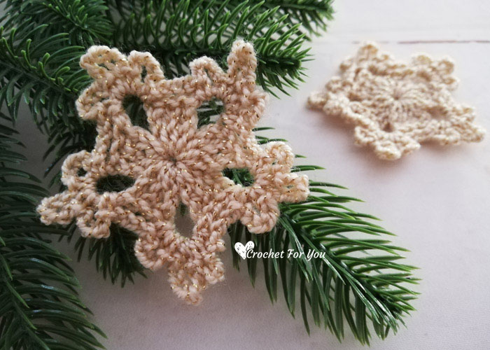 5-Minute Crochet Snowflake Video Tutorial