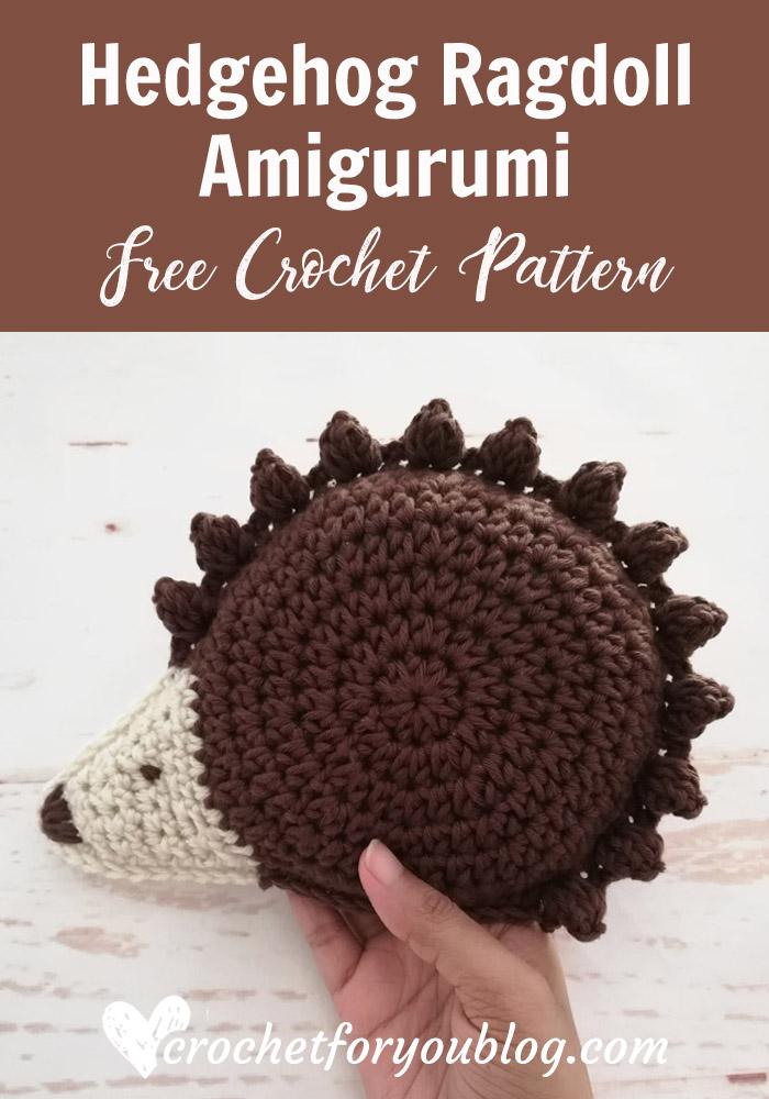 Crochet Hedgehog Ragdoll Amigurumi Pattern