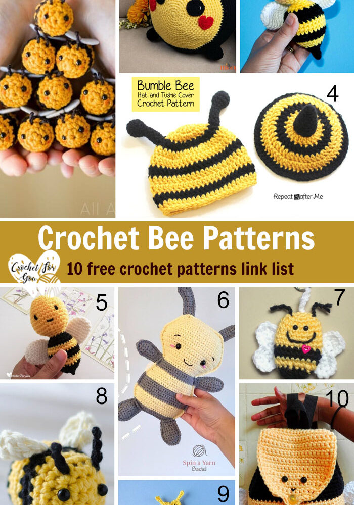 Crochet Bee Patterns - 10 free crochet pattern link list