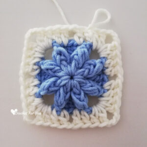 Crochet Bobble Drops Flower Granny Square Free Pattern