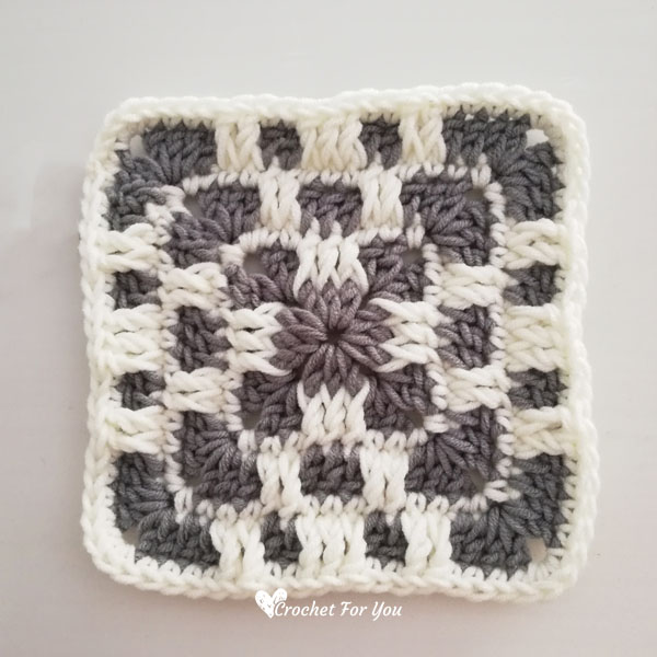 Crochet Checkerboard Granny Square