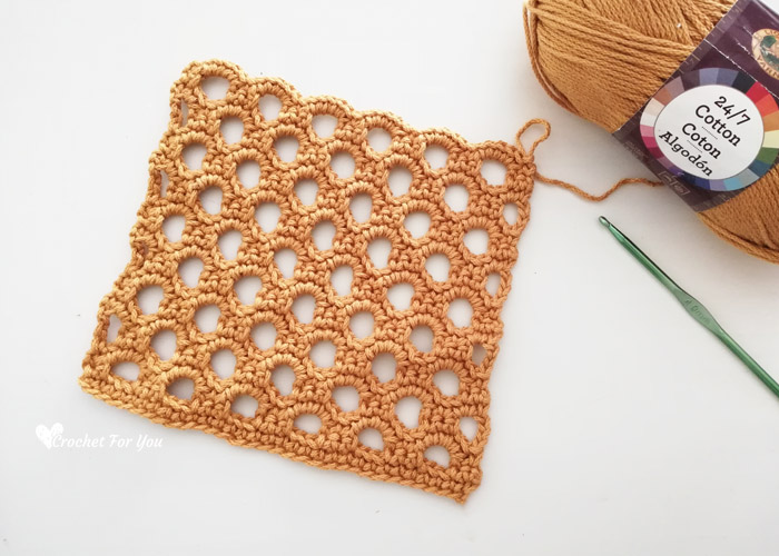 Crochet Honeycomb Trellis Stitch