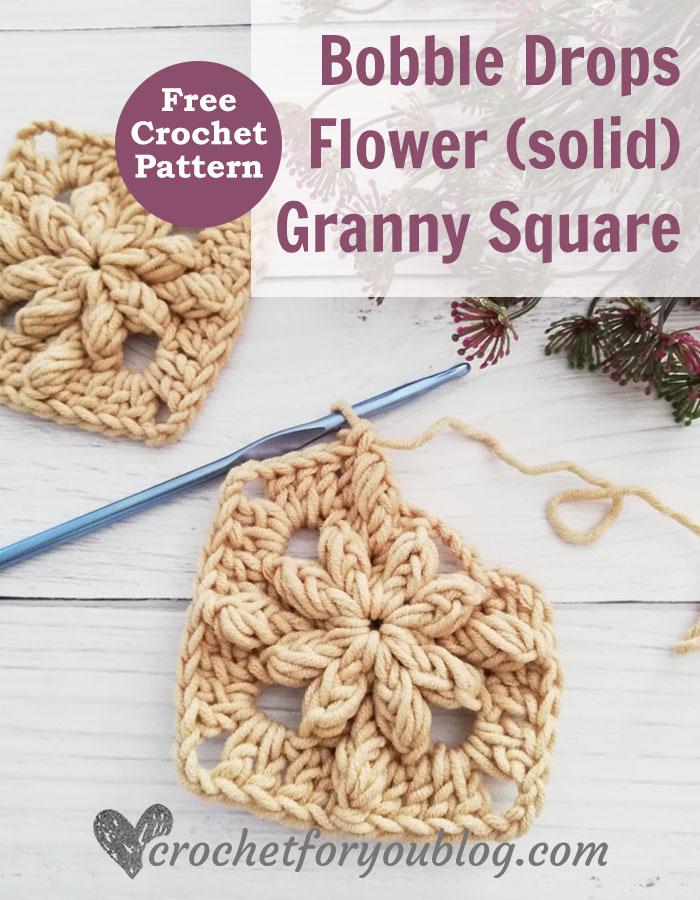 Bobble Drops Flower Granny Square