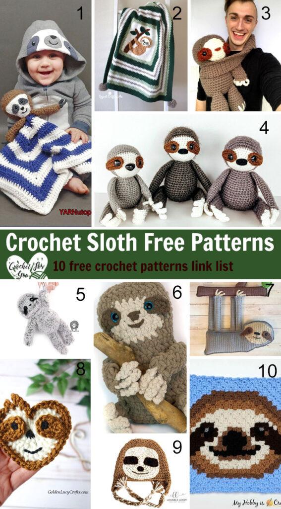 Crochet Sloth Free Patterns