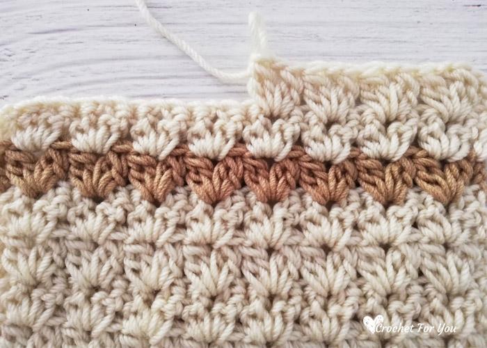 Crochet Cluster V Stitch