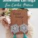 Crochet Snowflake Earrings