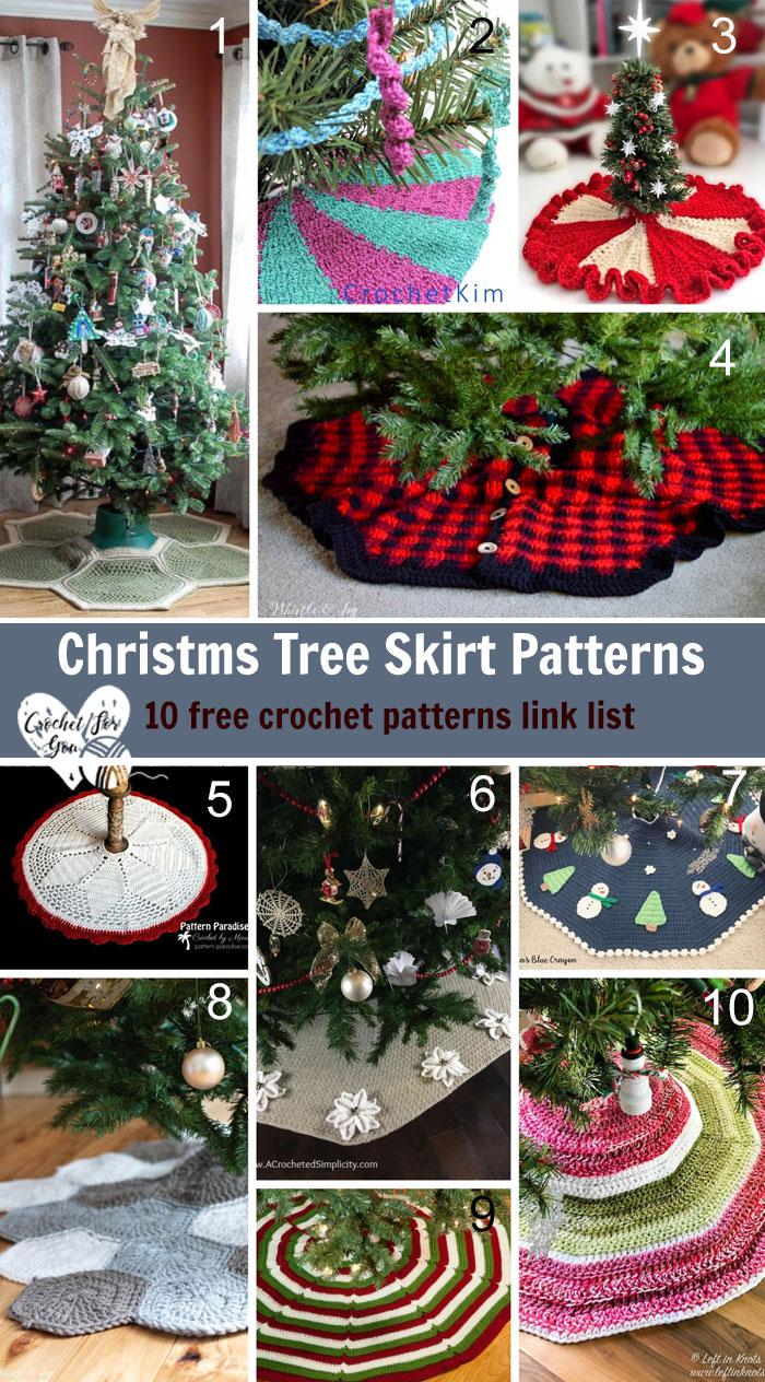 Christms Tree Skirt Patterns - 10 free crochet patterns