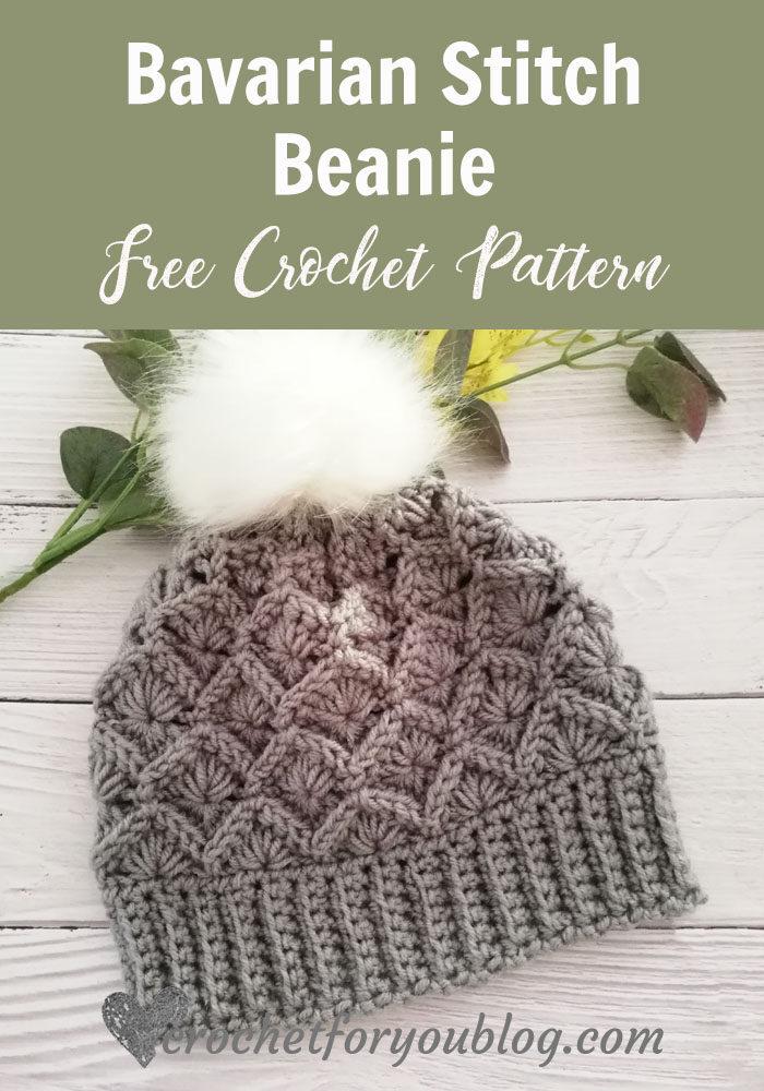 Crochet Bavarian Stitch Beanie
