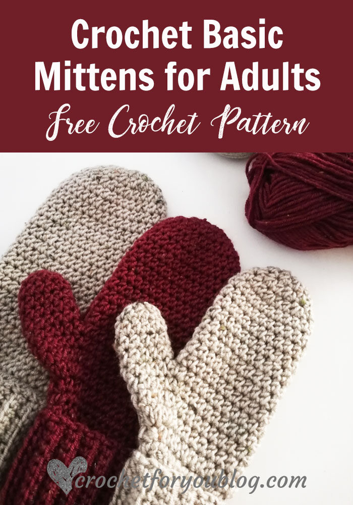 Crochet Basic Mittens Pattern