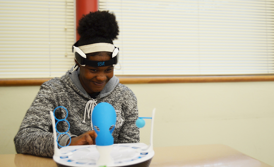 Expanding Their Horizons students took part in experiments and hands-on learning opportunities.