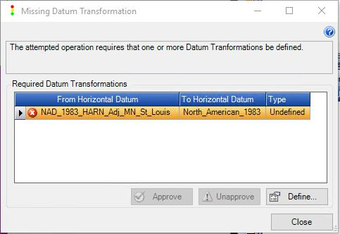Define the datum transformation