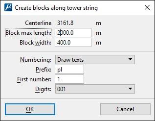 Create Blocks Along Tower String