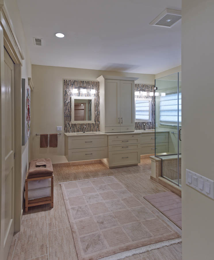 under cabinet lighting with overhead bars