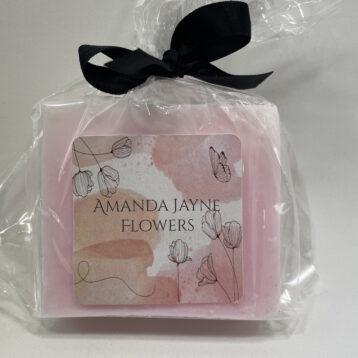 Soap Pink Swirl- Lychee & Guava scent