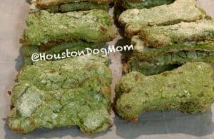easy health homemade dog treats out of the oven on a baking rack