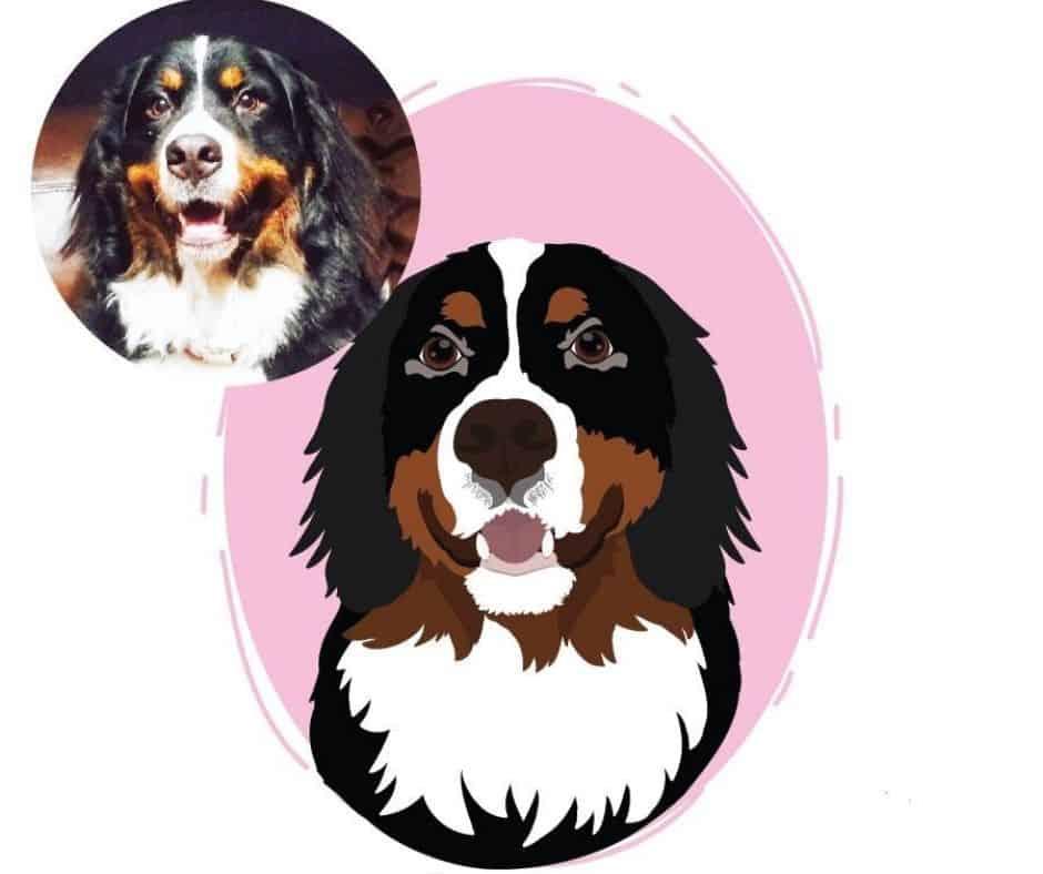 Sarah Renee Creative custom dog portraits digital picture