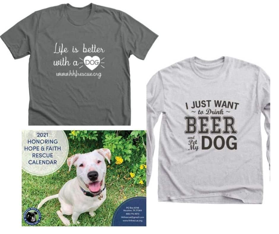 dog rescue t-shirts dog rescue calendar honoring hope and faith rescue